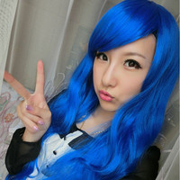 50 CM Length Harajuku Anime Cosplay Wigs 20Inch Long Curly Synthetic Hair Wig Bangs Blonde Costume Party Wigs For Women 6 Colors