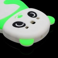 CoverON Soft Silicone NEON GREEN WHITE Skin Cover Case With PANDA Design for SAMSUNG GALAXY S3 S III I747 / I535 / T999 / L710 / I9300 [WCS1174]