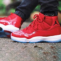 Air Jordan 11 Hot Sale Women Men Leisure Sneakers Sport Basketball Shoes Red-1