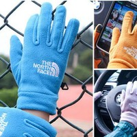 ONETOW Unisex The North Face Fleece Cycling Sports Touchable Gloves