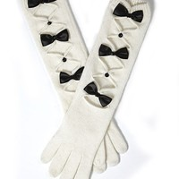 Long Glove With Bow