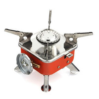 Red Portable Palm Outdoor Camping Stoves Quartet Mini Fishing Gas Stove Strong Fire Furnace