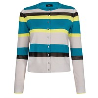 Paul Smith Women's Knitwear | Sheer Stripe Merino Wool Cardigan