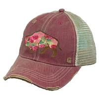 Buffalo Rose Cap by Original Cowgirl Clothing Company  Hat-623