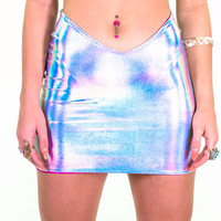 Silver Hologram Mermaid Skirt