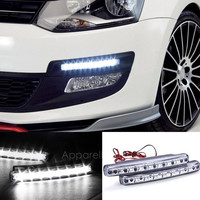 2Pcs White Car 8LED DRL Daytime Running Lights Head Lamp AP = 1646024388
