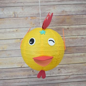 "8"" Paper Lantern Animal Face DIY Kit - Chicken / Rooster (Kid Craft Project)"