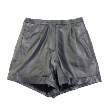 Goth leather short pants