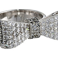 King Baby Studio Baby Bow Ring Pave Cz Silver - Zappos.com Free Shipping BOTH Ways