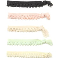 With Love From CA Lace Elastic Hair Tie Pack at PacSun.com