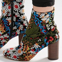 ASOS EMILIA Embroidered Ankle Boots at asos.com