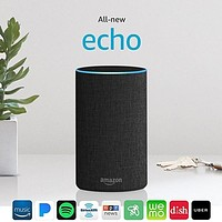 All New Echo (2nd Generation) With Improved Sound Powered By Dolby