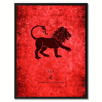 Leo Horoscope Astrology Canvas Print, Picture Frame Home Decor Wall Art Gift