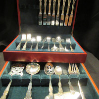 Wallace Centennial Silverplate 1972 by Chatelaine Home, Silverplate, Flatware, 52 Pieces Service for 8 (1558)