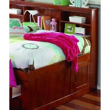 Grace Full Daybed with Bookcase Headboard, Trundle, and Three Storage Drawers