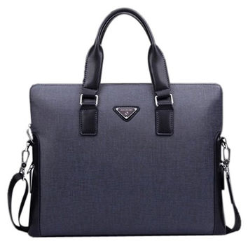 PU Leather Men's Briefcase
