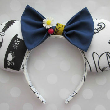 Mary Poppins Inspired Hair Bow