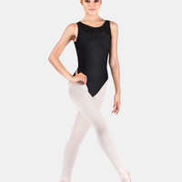 Free Shipping - Adult Asymmetrical Flocked Tank Leotard by MOTIONWEAR