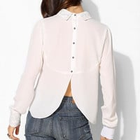Pins And Needles Lace Collar Long-Sleeve Blouse - Urban Outfitters