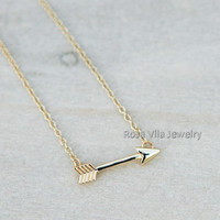 Arrow Necklace - 2 colors available (gold and silver) - dainty, cute and lovely pendant jewelry; love arrow