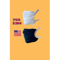 Elastic head loops washable reusable fabric face mask for kids