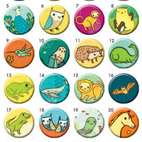Miniature Menagerie Buttons - Mix and Match (Set of 4)