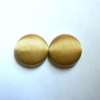 Button Earrings Shiny Gold Simple Classic