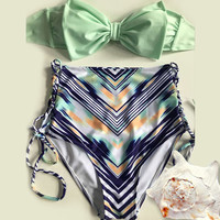 Cute Push Up Bikini Vintage High Waist Bathing Suits