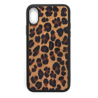 Leopard Pony Hair iPhone X Leather Case