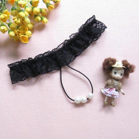 5 Colors  Sexy Ladies G String Underwear Women Pearls Thongs And Strings Intimates Underpants bragas mujer  #23 BL