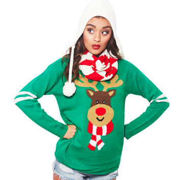 Rudolph Scarf Sweater Set   Wet Seal