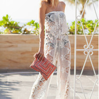 Sexy white lace Jumpsuits YKL15RG