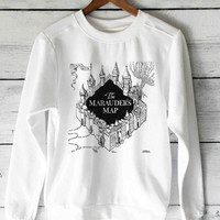 The Marauder's Map harry potter sweater unisex adults