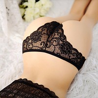 Sexy Lace Women Thongs and G strings Women Underwear Girl Thongs Lady Panties Breathable Lingerie Underwear Black Blue Hot Pink