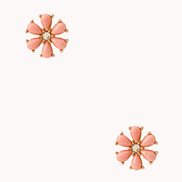 FOREVER 21 Faux Stone Floral Studs