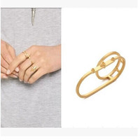 Shiny Jewelry Stylish Gift New Arrival Ladies Strong Character Rivet Ring [4956863748]
