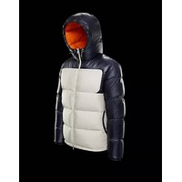 Moncler Warm Winter Down Jacket Windproof Hooded Collar Men's Parka Male Big Coat Smart Casual Covered Button