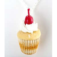 Vanilla Bean Cupcake Necklace