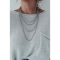 Chain Of Layers Necklace: Silver