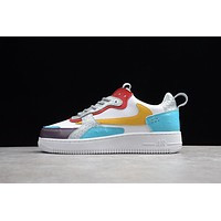 Travis Scott X Nike Air Force 1 Af1 White/ Blue/ Yellow Low Sneakers
