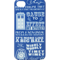 Doctor Who Wibbly Wobbly iPhone 4/4S Case