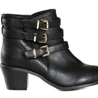 Buckled Ankle Boots-FINAL SALE