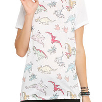 How To Draw A Dinosaur Girls T-Shirt