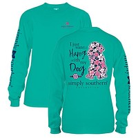 Simply Southern Youth Preppy Hang With My Dog Long Sleeve T-Shirt
