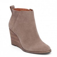 Taupe Yezzah Wedge Bootie By Lucky Brand