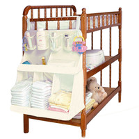Nylon Waterproof Home Toys Clothes Storage Diapers Organizer Baby Bed Hanging Bag Portable Storage Closet Furniture Accessories