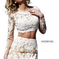 Sherri Hill Short Homecoming Dress 21371 at Peaches Boutique