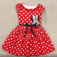 Minnie Mouse Dress Dots for 2-6 Years Kid Dress