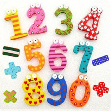 15pcs set Numbers Child Math Toy Education Learn Cute For Kid Baby Toy Magnetic Fridge Magnet Free Shipping