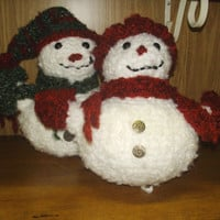 Mr. And Mrs. Frosty the Snow Couple Crochet Snow People
